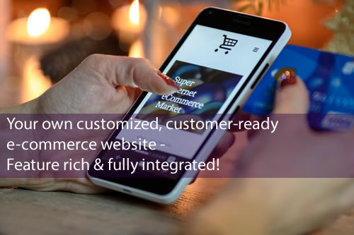 Your own customized, customer-ready e-commerce website<br />Feature rich & fully integrated